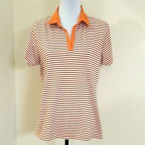 Fairway & Greene orange/black polo shirt, XL